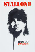 "Movie/TV Memorabilia:Posters, An Advance Subway Movie Poster from ""Rambo.""..."