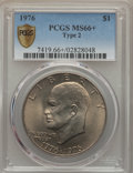 Eisenhower Dollars, 1976 $1 Type Two MS66+ PCGS Secure. PCGS Population (471/11 and 13/0+). NGC Census: (350/3 and 0/0+). Mintage: 113,318,000....