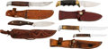 Edged Weapons:Knives, Lot of Four Scabbard Knives.... (Total: 4 Items)