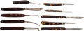 Edged Weapons:Knives, Lot of Ten Shell Grip Folding Knives.... (Total: 10 )