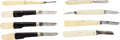 Edged Weapons:Knives, Lot of Eight Knives with Celluloid Grips.... (Total: 8 )
