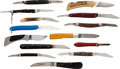 Edged Weapons:Knives, Lot of 14 Vintage Folding Knives.... (Total: 14 )