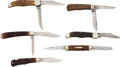 Edged Weapons:Knives, Lot of Six Assorted Folding Knives.... (Total: 6 )