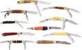 Edged Weapons:Knives, Lot of 10 Assorted Folding Knives.... (Total: 10 )