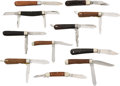 Edged Weapons:Knives, Lot of 11 Assorted Vintage Folding Knives.... (Total: 11 )