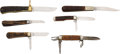 Edged Weapons:Knives, Lot of Three Vintage & Three Decorative Folding Knives....(Total: 6 )