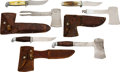 Edged Weapons:Other Edged Weapons, Lot of Three Knife/Hatchet Combinations.... (Total: 3 Items)