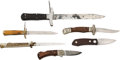 Edged Weapons:Knives, Lot of Two Folding Bowie Knives & Four Lock Back FoldingKnives.... (Total: 6 )