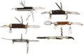 Edged Weapons:Knives, Lot of Six Assorted Folding Pocket Knives.... (Total: 6 )