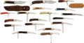 Edged Weapons:Knives, Lot of 18 Miscellaneous Case Knives.... (Total: 18 Items)