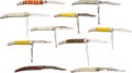 Edged Weapons:Knives, Lot of 10 Fishing Folding Knives. ... (Total: 10 )