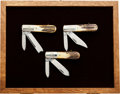 Edged Weapons:Knives, Three Case XX Barlow Knives in a Custom Case....