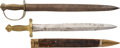 Edged Weapons:Swords, Lot of Two Short Military Swords.... (Total: 2 Items)