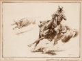 Art, Edward Borein (American, 1872-1945): Three Etchings DepictingCowboys on the Ranch.... (Total: 3 Items)