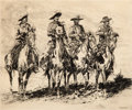 Art, Edward Borein (American, 1872-1945): Three Etchings DepictingCowboys on the Frontier. ... (Total: 3 Items)