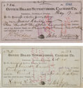 Miscellaneous:Ephemera, Tombstone, Arizona: Two Cochise County Payment Vouchers.... (Total:2 Items)