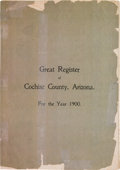 Miscellaneous:Booklets, Cochise County, Arizona: Register of Population in 1900....