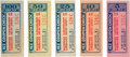 Miscellaneous:Ephemera, Tombstone, Arizona: Uncommon Complete Set of Ice Coupons from the Tombstone Improvement Company....