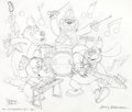 Animation Art:Production Drawing, The Banana Splits Adventure Hour Original Art(Hanna-Barbera, 1968/1990s)....