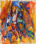 Post-War & Contemporary:Abstract Expressionism, Elaine de Kooning (American, 1919-1989). Basketball Players.Acrylic and gouache on paper. 16-1/4 x 13-1/2 inches (41.3 ...