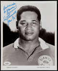 Football Collectibles:Photos, Emlen Tunnell Signed Photograph....