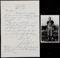 Football Collectibles:Photos, 1969 Link Lyman Handwritten, Signed Letter and Photograph....