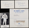 Football Collectibles:Others, Art Donovan Signed Lot of 4....