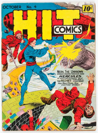 Hit Comics #4 (Quality, 1940) Condition: VG+