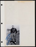 Football Collectibles:Photos, Ed Healey, Chuck Bednarik and George McAfee Signed Photographs Lot (3)....