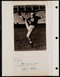 Football Collectibles:Others, Tom Harmon and Wayne Milner Signed Lot (2)....
