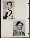 Football Collectibles:Photos, Bobby Layne and Paul Brown Signed Photographs (2)....