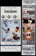 Baseball Collectibles:Tickets, 2004 and 2008 Greg Maddux 300th and 350th Win Full Tickets (2)....