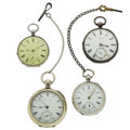 Timepieces:Pocket (post 1900), Four Key Wind Pocket Watches Runners. ... (Total: 4 Items)