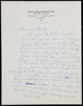 Baseball Collectibles:Others, 1975 Willie Wells Handwritten, Signed Letter....
