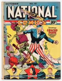 National Comics #16 (Quality, 1941) Condition: GD/VG