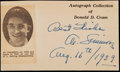 Baseball Collectibles:Others, 1939 Al Simmons Signed Cut Signature....