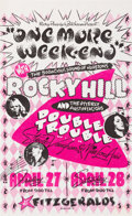 Music Memorabilia:Posters, Stevie Ray Vaughan Double Trouble/Rocky Hill Houston Concert Poster (1979)....
