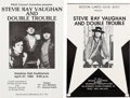 Music Memorabilia:Posters, Stevie Ray Vaughan/Double Trouble Set Of Two Concert Posters(1984).... (Total: 2 Items)