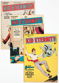 Kid Eternity Group of 4 (Quality, 1947-49) Condition: Average GD/VG.... (Total: 4 Comic Books)