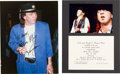 Music Memorabilia:Autographs and Signed Items, Stevie Ray Vaughan: One Signed Photograph and Guitar ClinicInvitation....