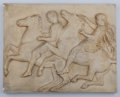 Ceramics & Porcelain, Continental:Antique  (Pre 1900), A Pietro Caproni & Bro. Cast Plaster Section of the Elgin Marbles from the Greek Parthenon Frieze: West Front, late ...