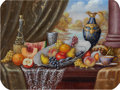 Fine Art - Painting, European:Contemporary   (1950 to present)  , Continental School (20th Century). Pair of Still Lifes. Oilon panel. 7 x 9-1/2 inches (17.8 x 24.1 cm) (each). Each sig...(Total: 2 Items)