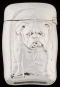 Silver Smalls:Match Safes, A Wallace Silver Bulldog Match Safe, Wallingford,Connecticut, circa 1900. Marks: (stag), R.W.&S, STERLING,87...