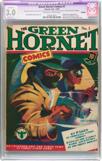 Green Hornet Comics #1 (Harvey, 1940) CGC Apparent GD/VG 3.0 Slight (C-1) Off-white to white pages