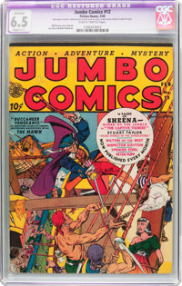 Jumbo Comics #12 (Fiction House, 1940) CGC Apparent FN+ 6.5 Slight (C-1) Slightly brittle pages