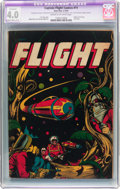 Golden Age (1938-1955):Science Fiction, Captain Flight Comics #11 (Four Star, 1947) CGC Apparent VG 4.0Slight/Moderate (C-2) Cream to off-white pages....