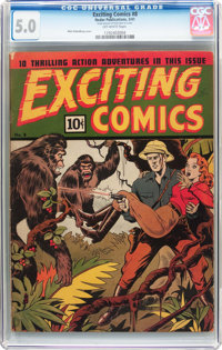 Exciting Comics #8 (Nedor/Better/Standard, 1941) CGC VG/FN 5.0 Off-white pages