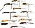 Edged Weapons:Knives, Lot of 12 Large Folding Knives.... (Total: 12 )