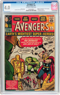 Silver Age (1956-1969):Superhero, The Avengers #1 (Marvel, 1963) CGC VG 4.0 Off-white to white pages....
