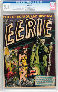 Eerie #2 (Avon, 1951) CGC FN- 5.5 Off-white to white pages